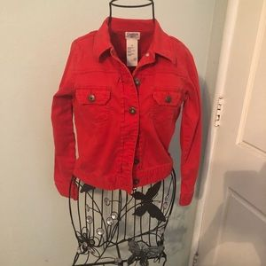 🇱🇷red Jean jacket for girls🇱🇷
